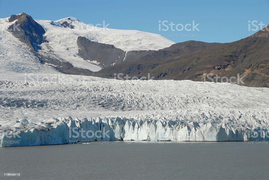 Breidarlon Lake and Fjallsjokull glacier royalty-free stock photo