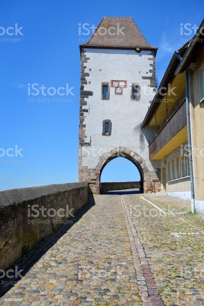 Breisach by the Rhine River in Baden-Wurttemberg, Germany stock photo