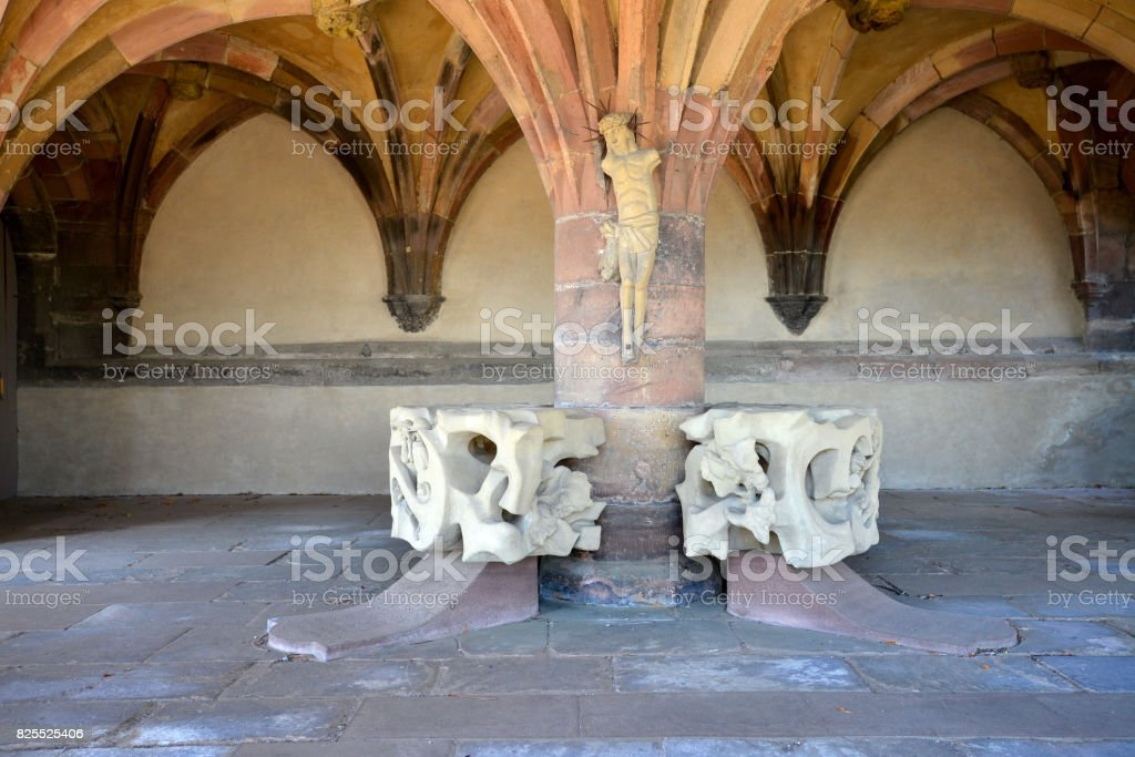 Breisach cathedrale by the Rhine River in Baden-Wurttemberg, Germany stock photo
