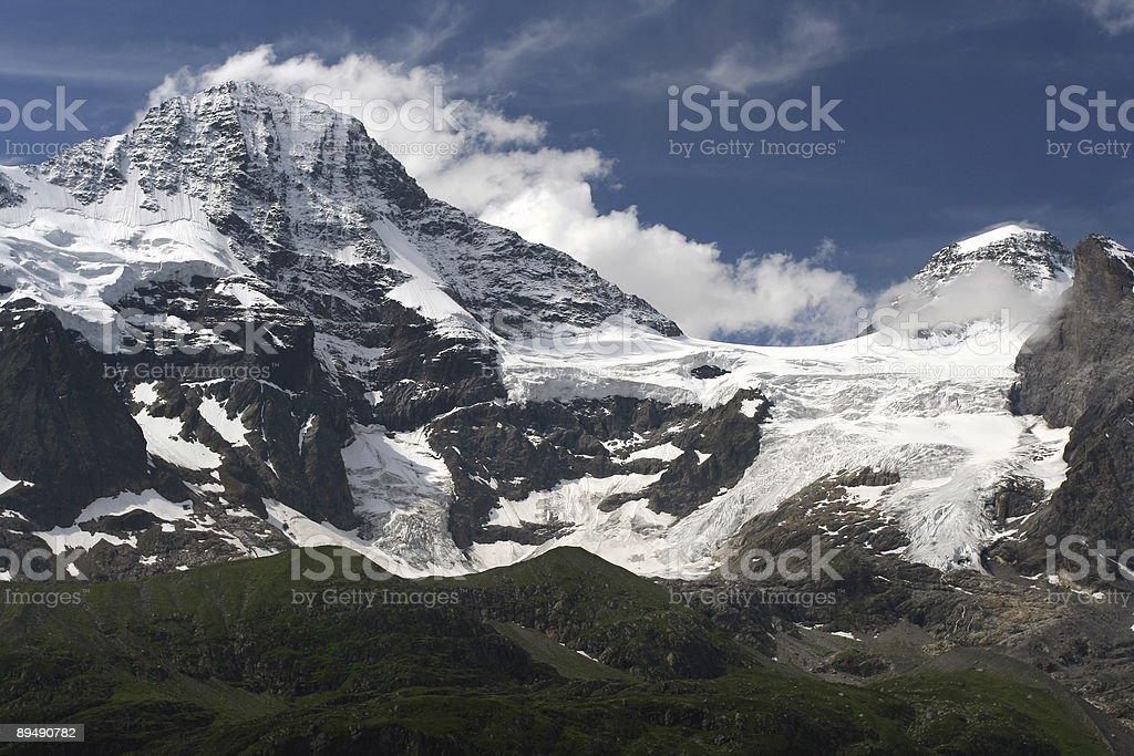 Breithorn and Tschingelhorn stock photo
