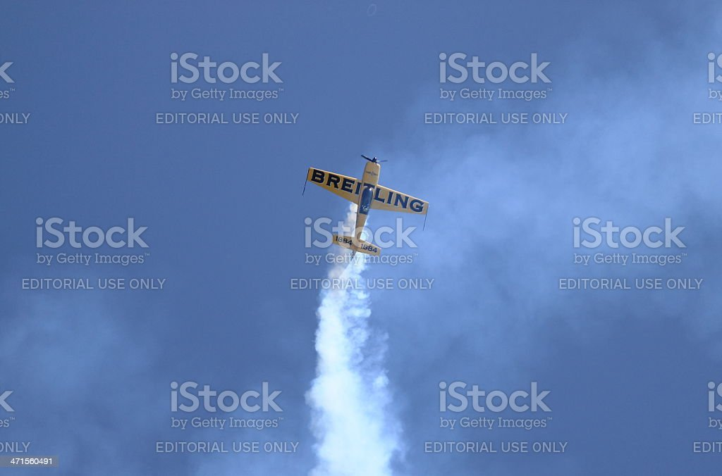 Breitling Extra 300 airplane royalty-free stock photo