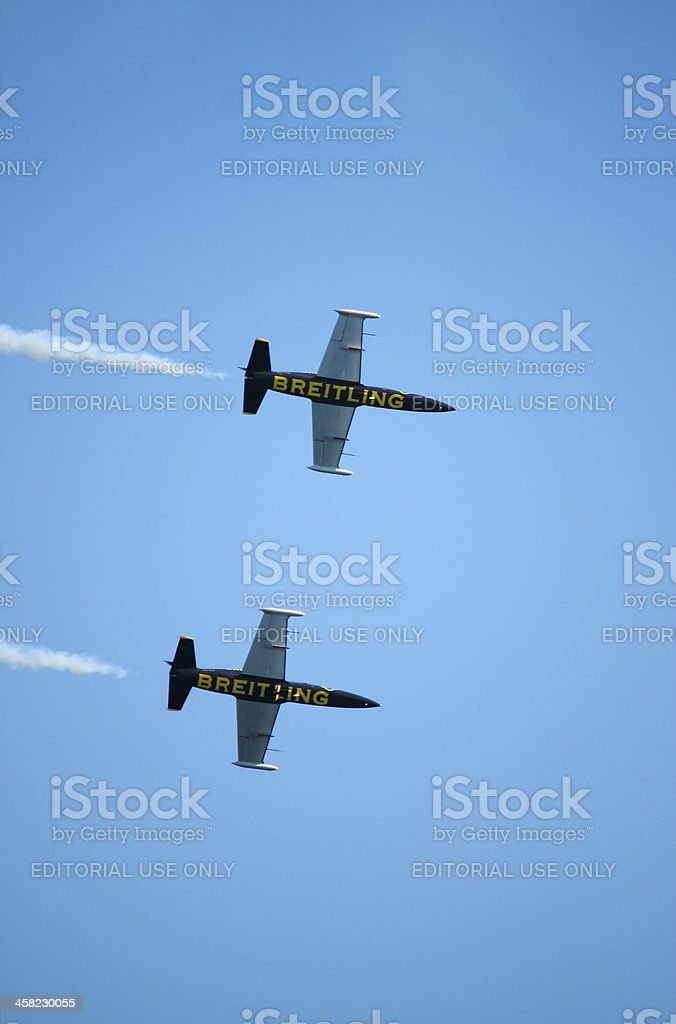 Breitling Jet Team royalty-free stock photo