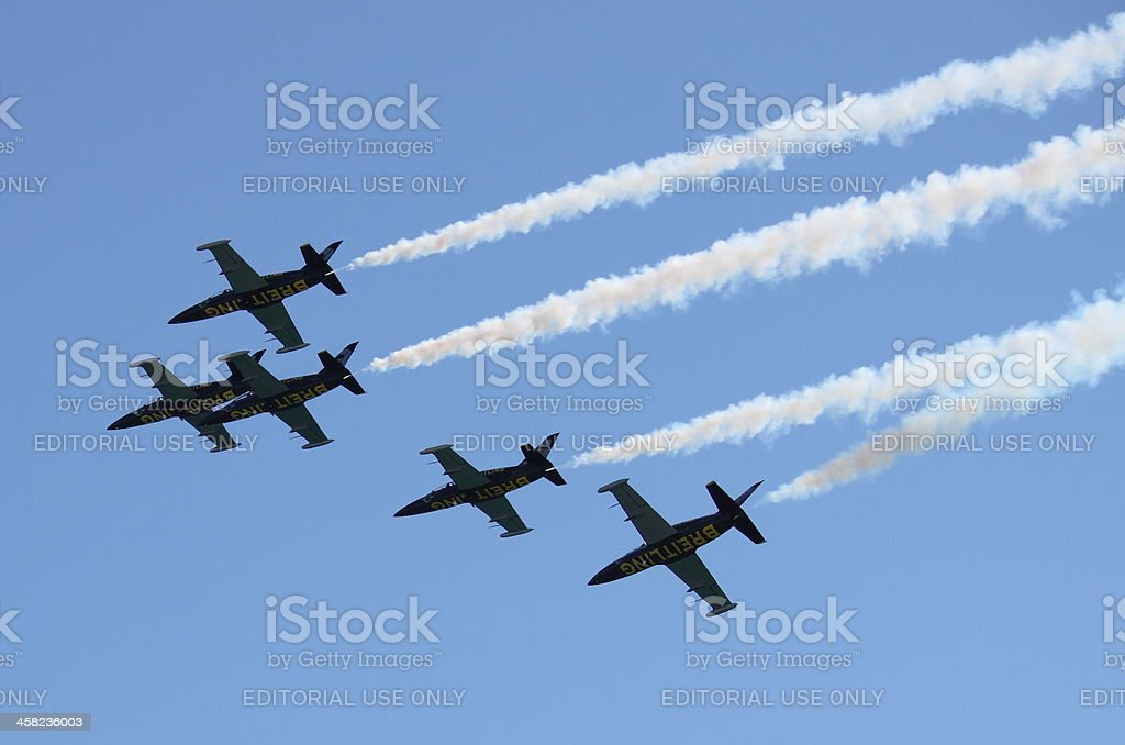 Breitling Jet Team royalty-free stock photo