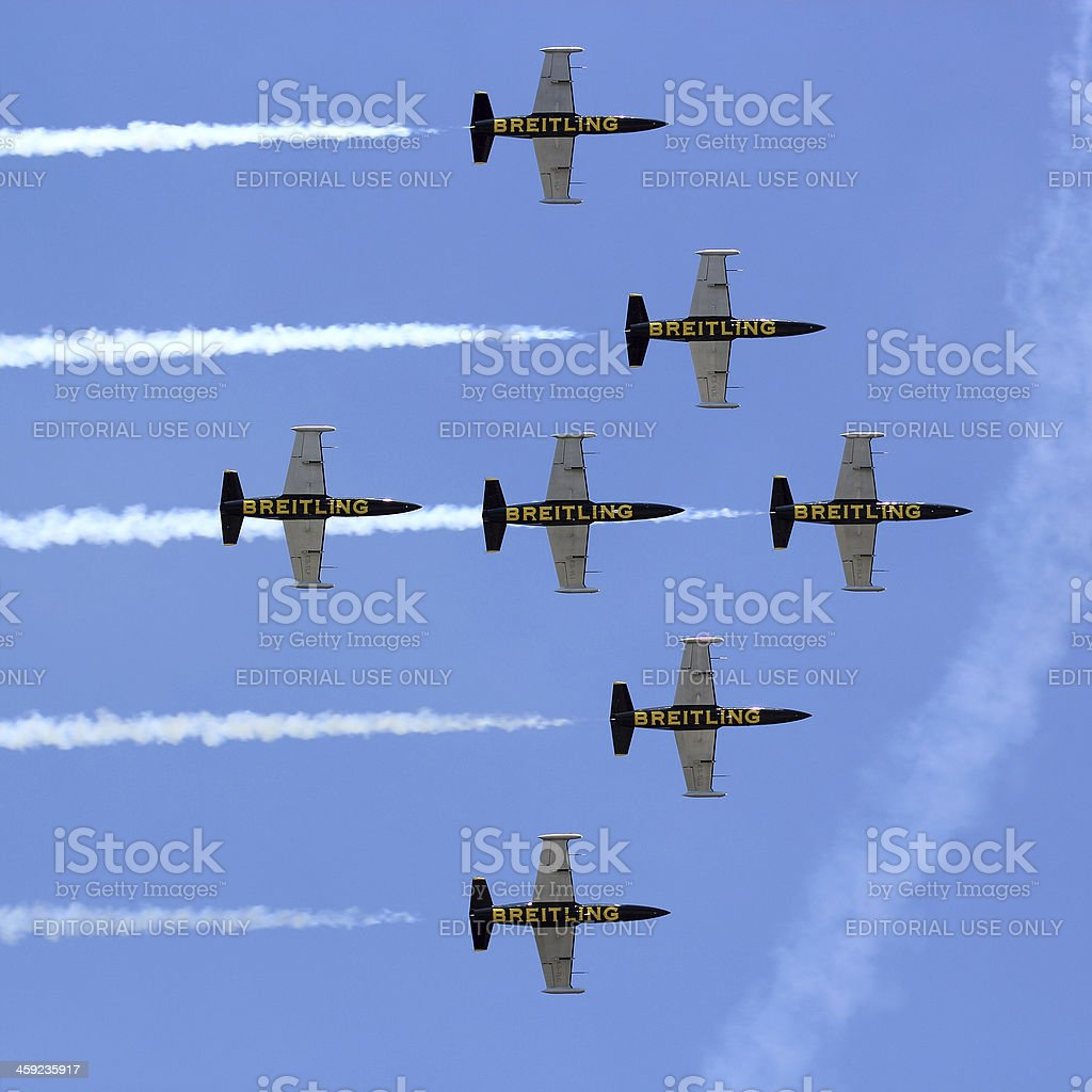 Breitling Jet Team stock photo