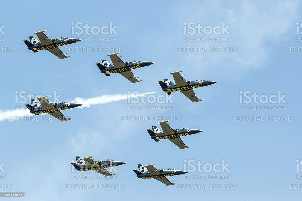 Breitling Jet Team Under The Royal Sky stock photo