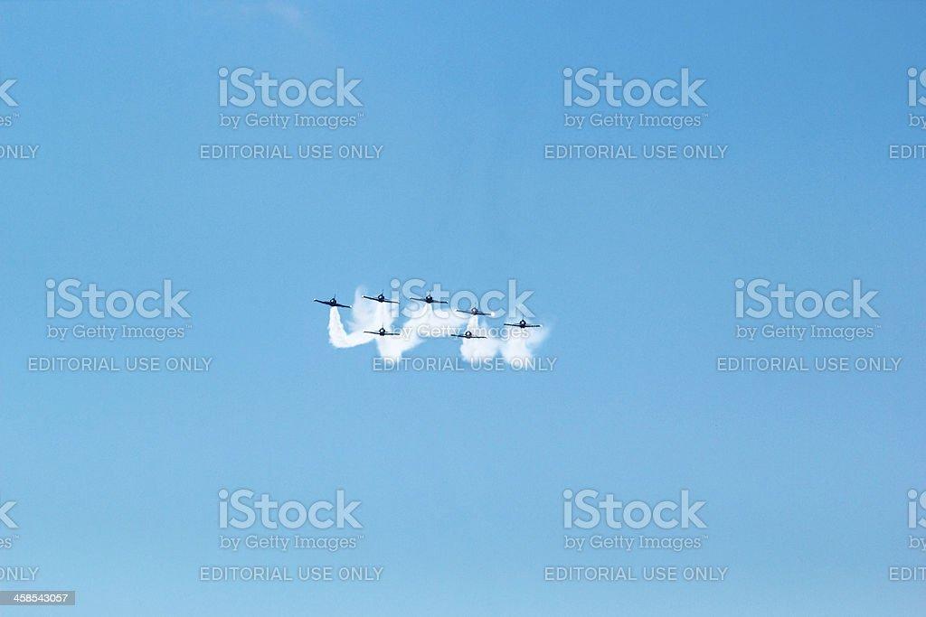 Breitling Jet Team Under The Royal Sky stock photo
