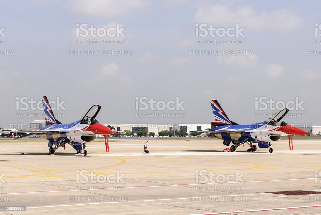Breitling Jet Team Under The Royal Sky royalty-free stock photo