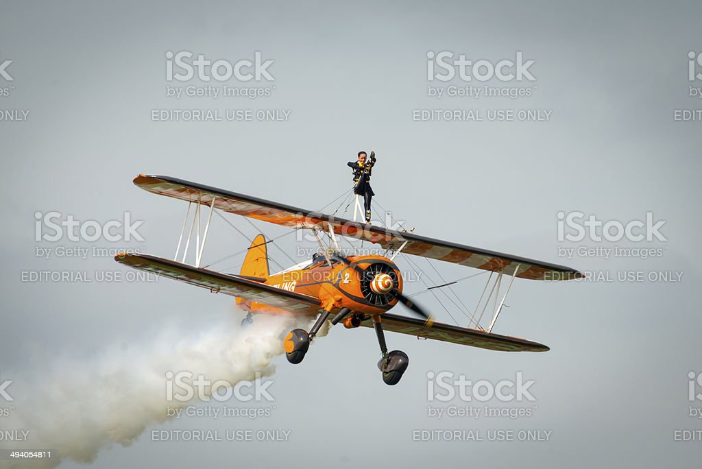 Breitling Wing Walker stock photo