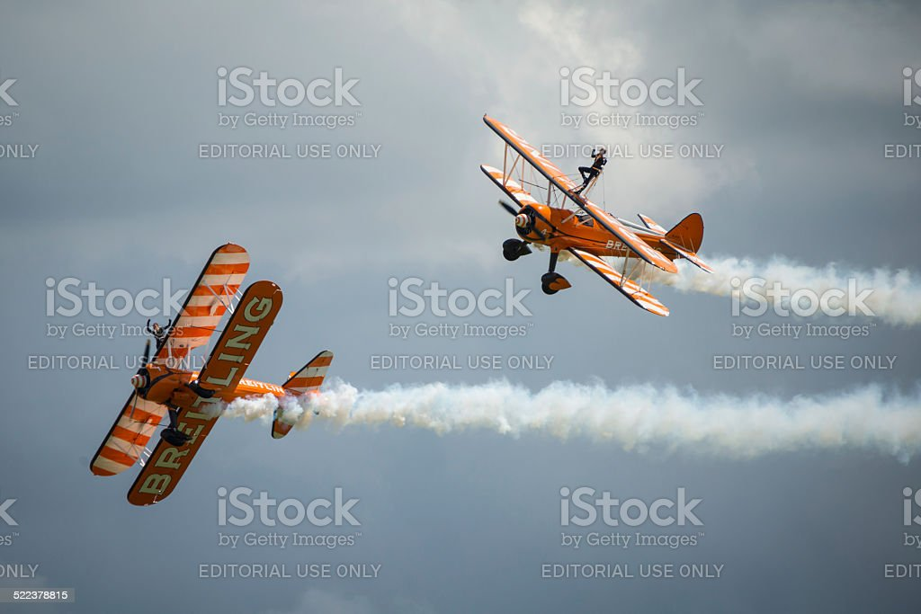 Breitling Wing Walkers display team stock photo