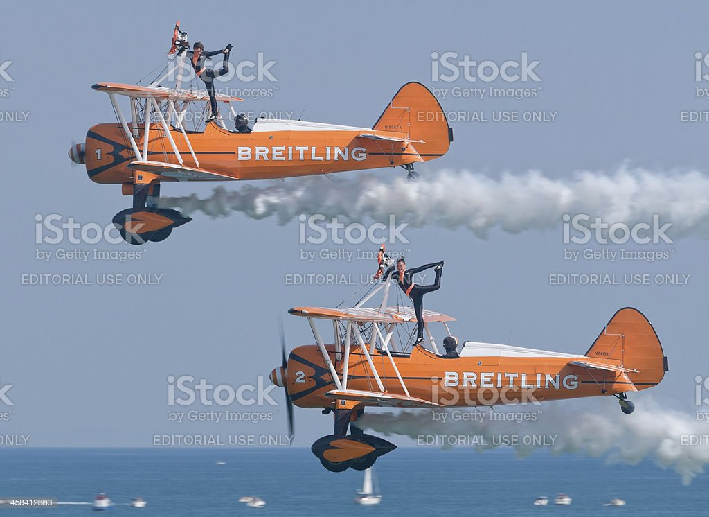 Breitling Wingwalkers stock photo