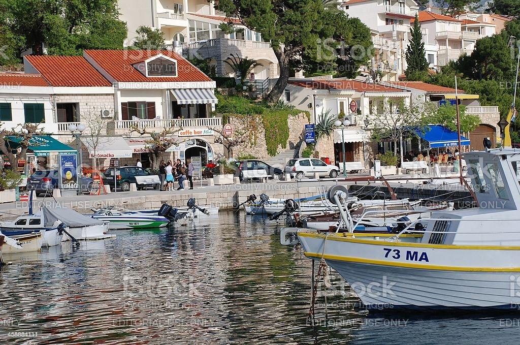 Brela harbour, Croatia royalty-free stock photo