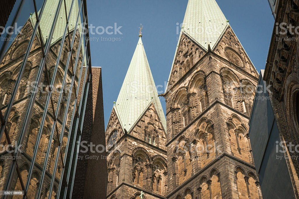 Bremen Cathedral stock photo