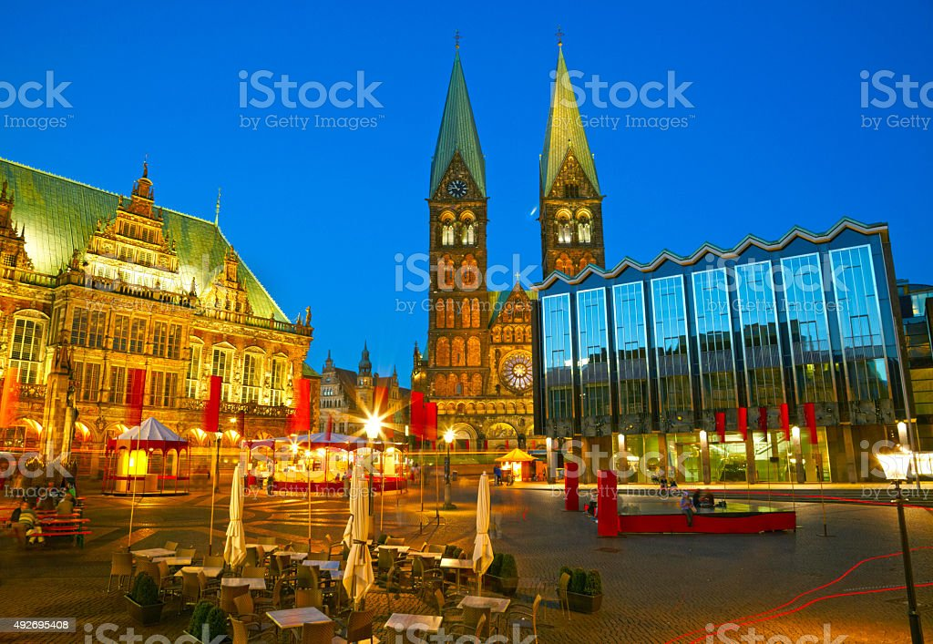 Bremen Market Square, Germany stock photo