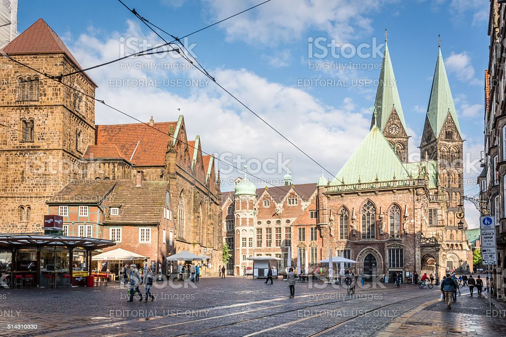 Bremen Town Square, Germany stock photo