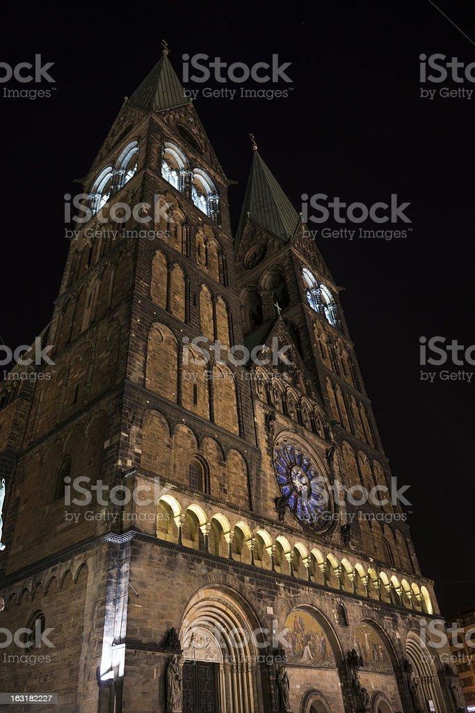 Bremer Dom at night  (XXXL) stock photo