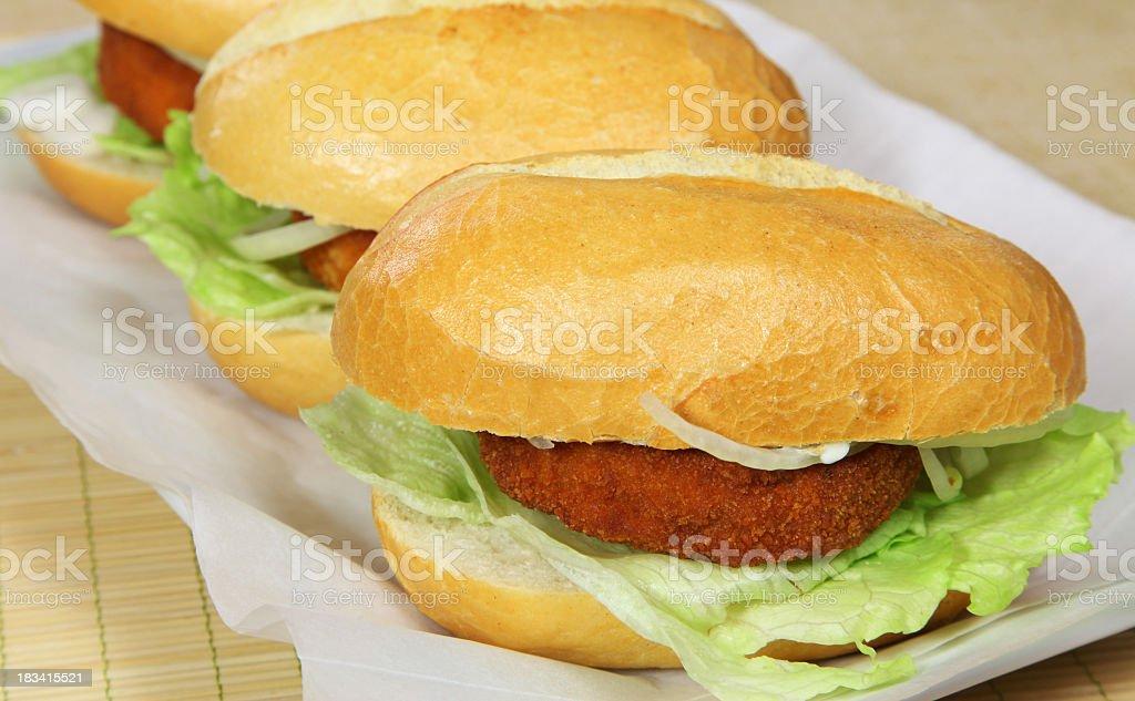 Bremer or fishburger royalty-free stock photo