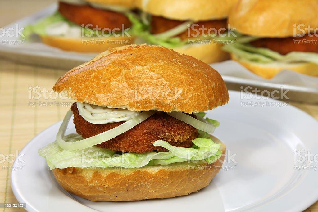 Bremer or fishburger stock photo