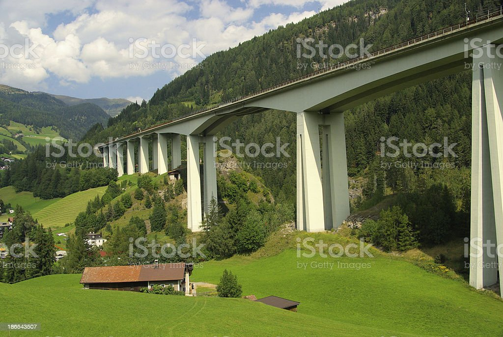 Brennerautobahn royalty-free stock photo