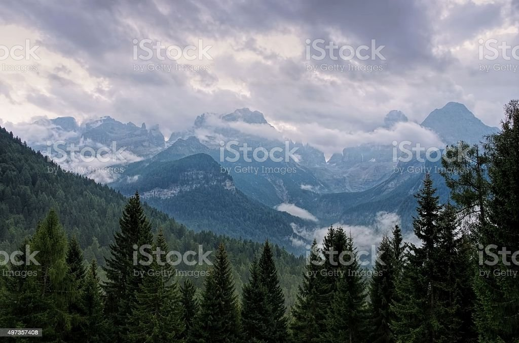 Brenta Dolomites stock photo