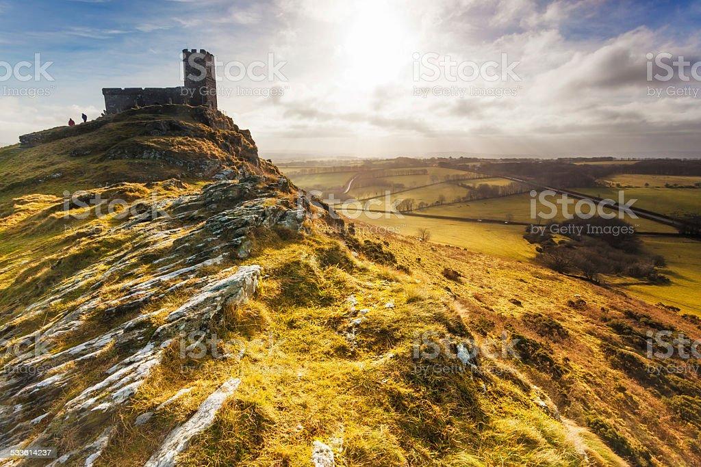 Brentor, Dartmoor National Park, Devon stock photo