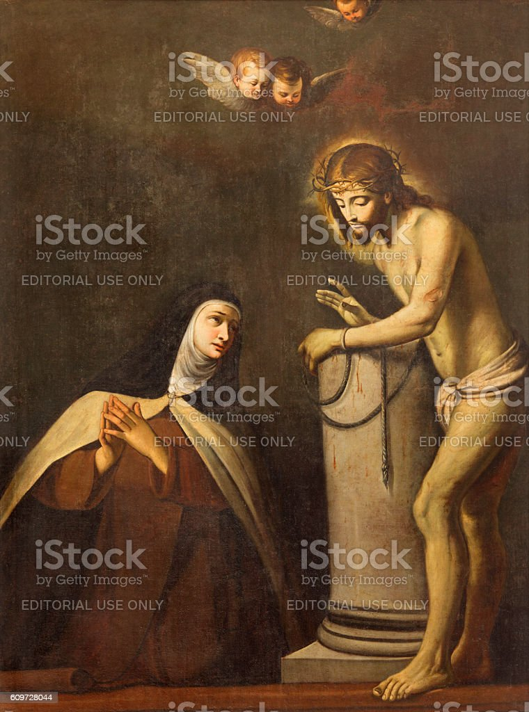 Brescia - Apparition of Jesus to St. Theresia of Avila stock photo