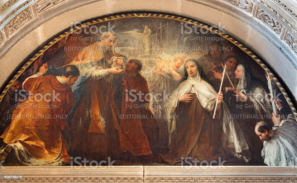 Brescia -  St. Theresa of Avila's vision of little Jesus stock photo