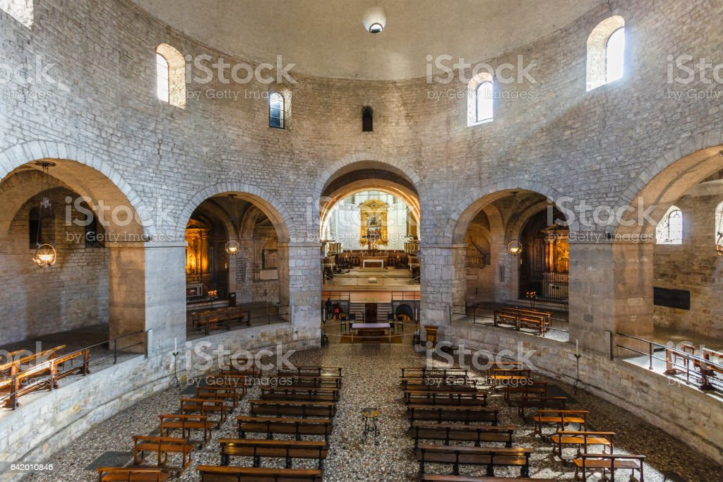 Brescia, the Old Cathedral - Italy stock photo