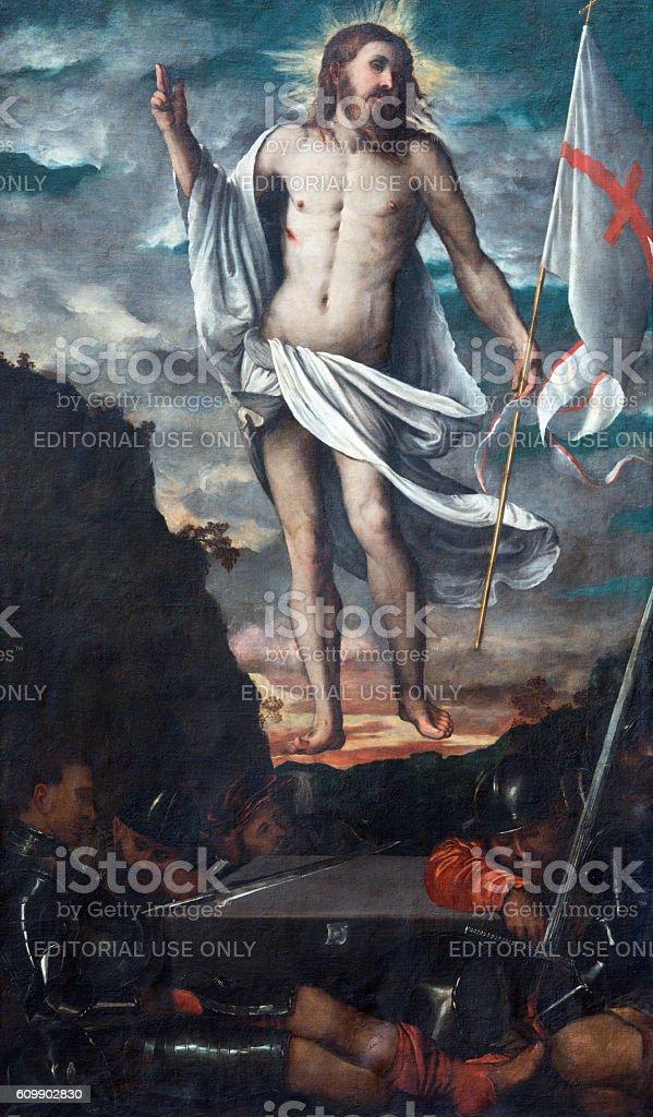Brescia - The Resurrection of Jesus stock photo