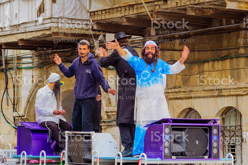 Breslov Hasidic Jews dance stock photo