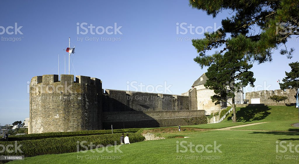 Brest: view the old castle stock photo