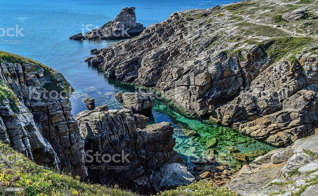 Bretagne, Quiberon, côte sauvage stock photo