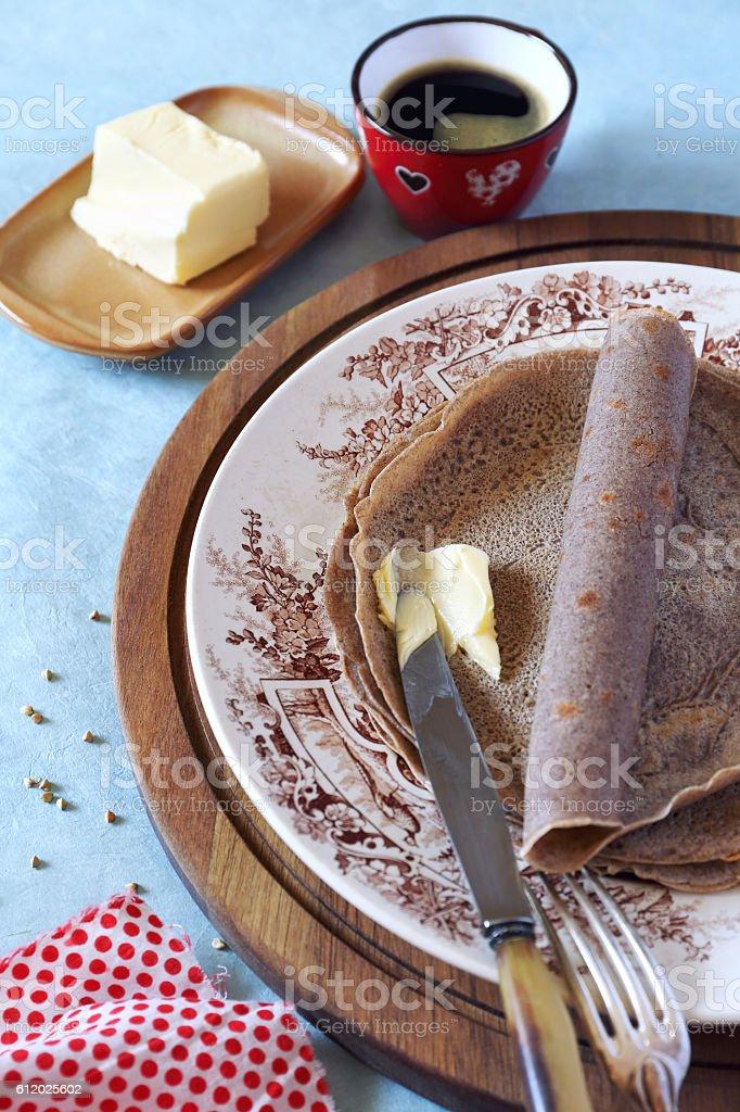 Breton buckwheat crepes stock photo