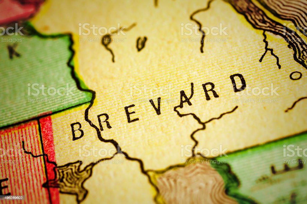 Brevard | Florida County Maps stock photo