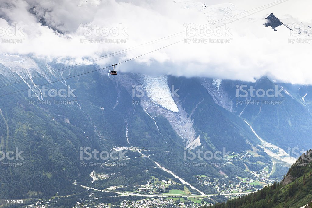 Brevent Cable Car stock photo