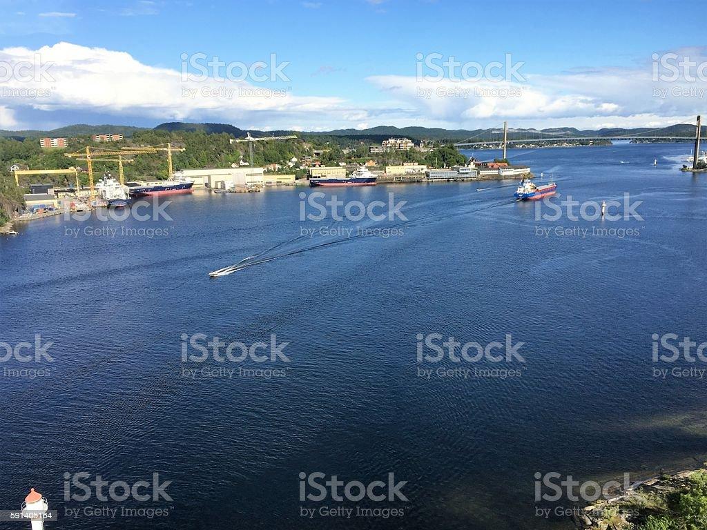 Brevik, Norway. photo libre de droits