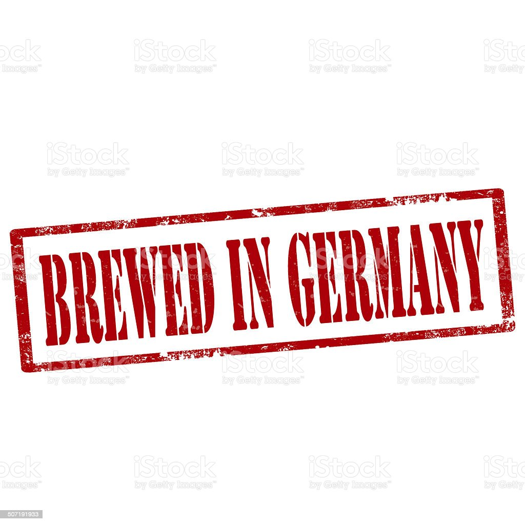 Brewed In Germany-stamp royalty-free stock vector art