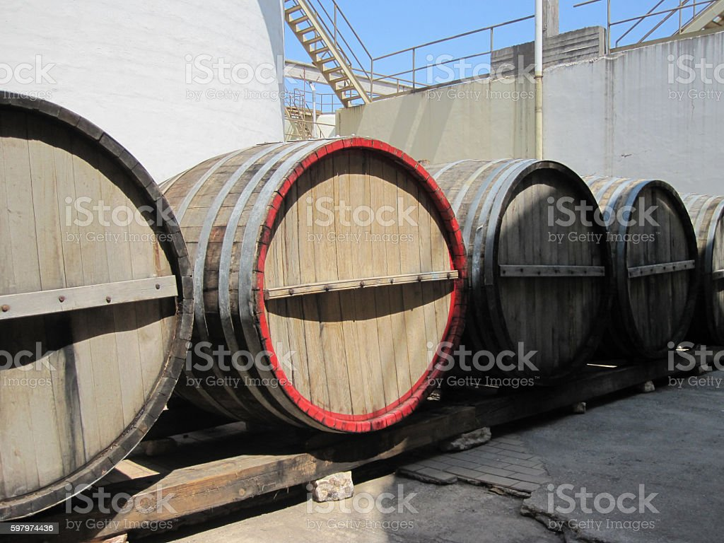 Brewers production for the tourists and citizens of Greece stock photo