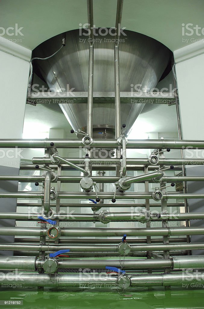 Brewery equipment royalty-free stock photo