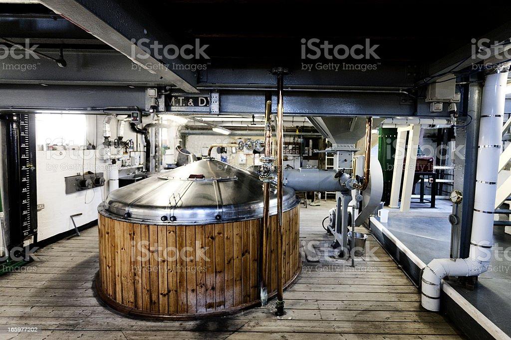 Brewery, mash tun and dissolving vat stock photo