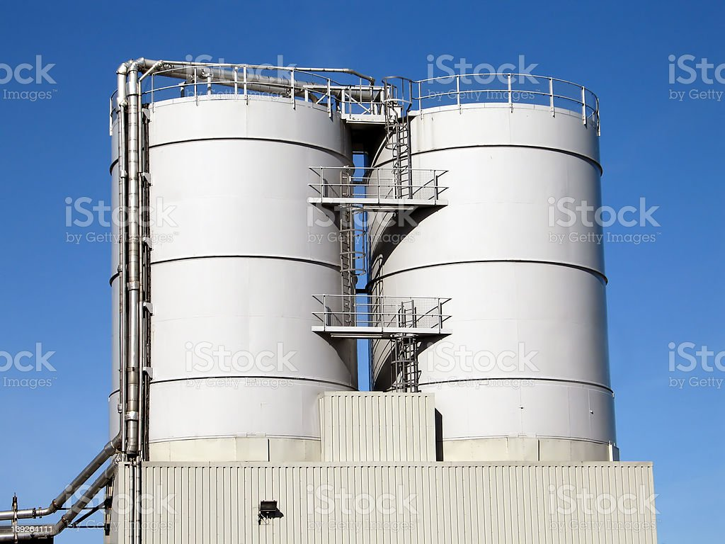 Brewery Storage Tanks stock photo