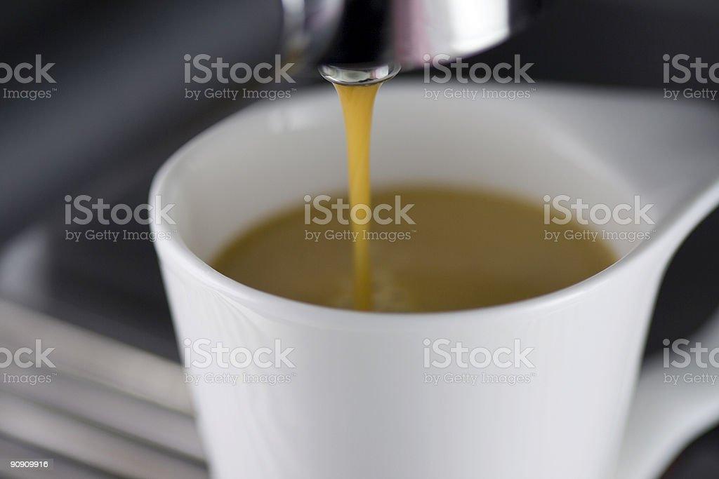 Brewing Espresso stock photo