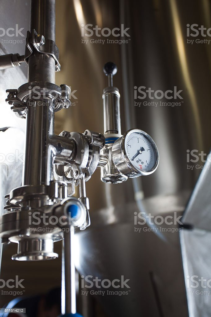 Brewing production vats stock photo