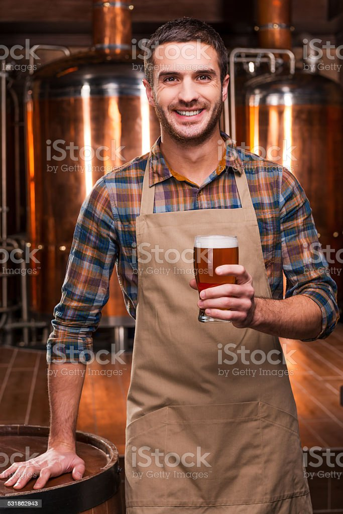 Brewing the best beer. stock photo