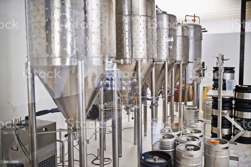 Brewing the best lager stock photo