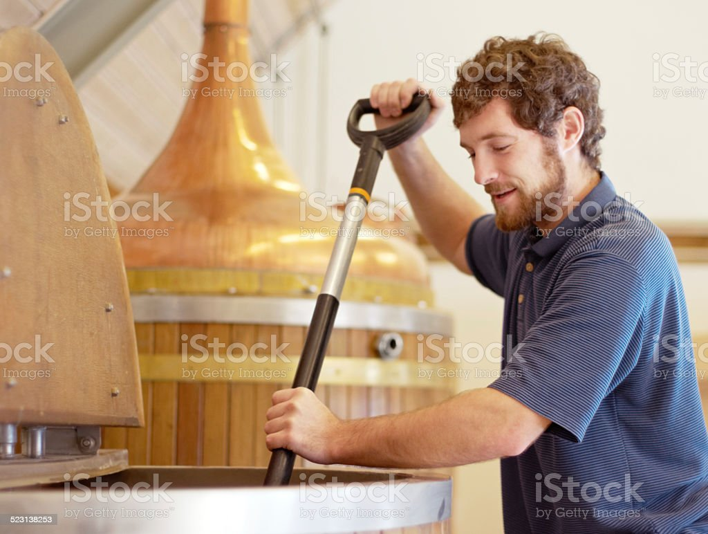 Brewing the best stock photo