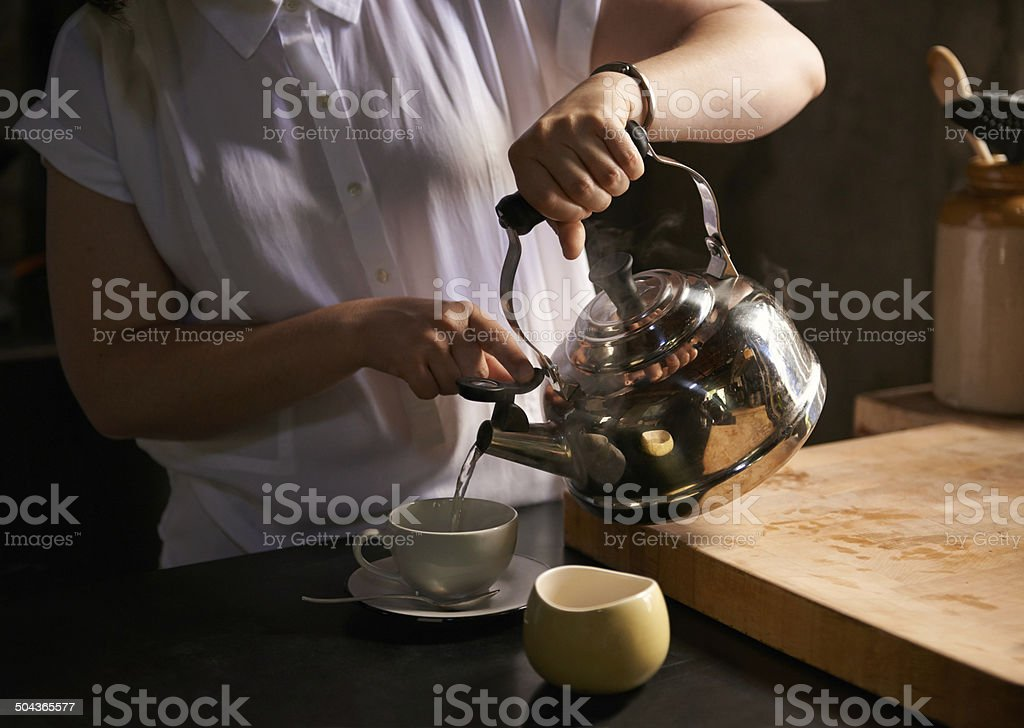 Brewing the perfect cup stock photo