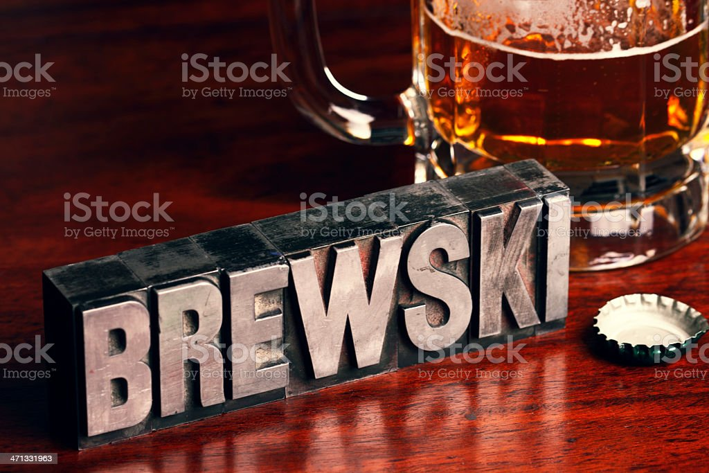 Brewski stock photo