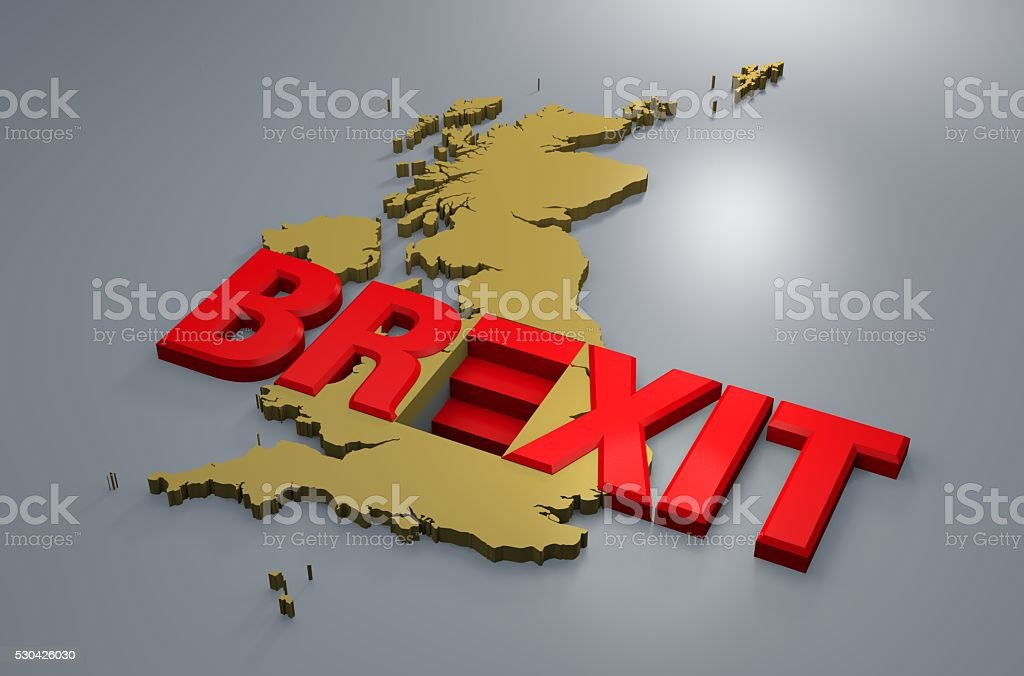 Brexit Britain map stock photo