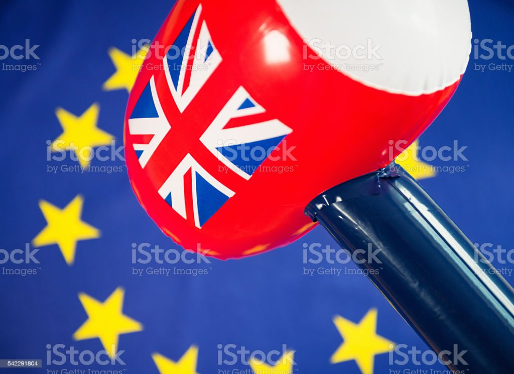 Brexit concept - British Exit from the European Union stock photo