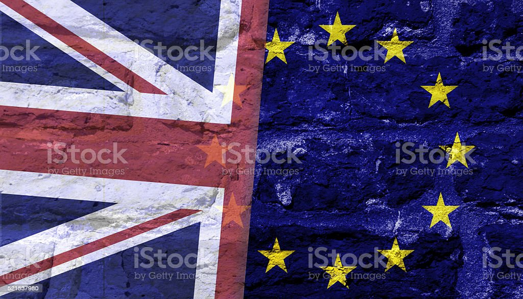 Brexit concept stock photo